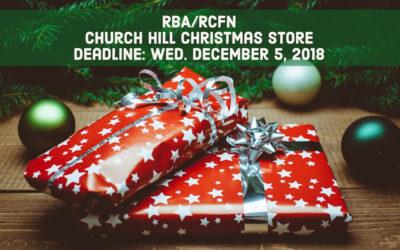 RBA/RCFN Church Hill Wellness Center Christmas Store 2018