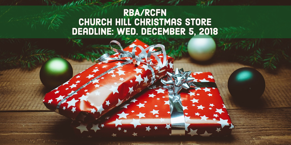 RBA/RCFN Church Hill Wellness Center Christmas Store 2018