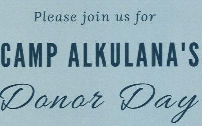 Camp Alkulana Donor Day 2019