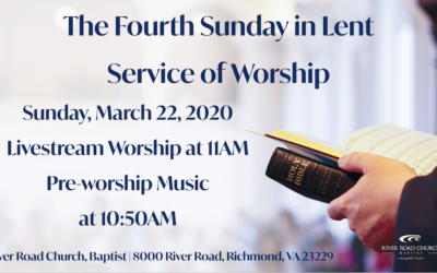 Sunday March 22, 2020 Worship Broadcast