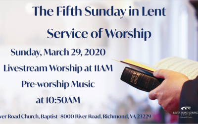 Sunday March 29, 2020 Worship Broadcast