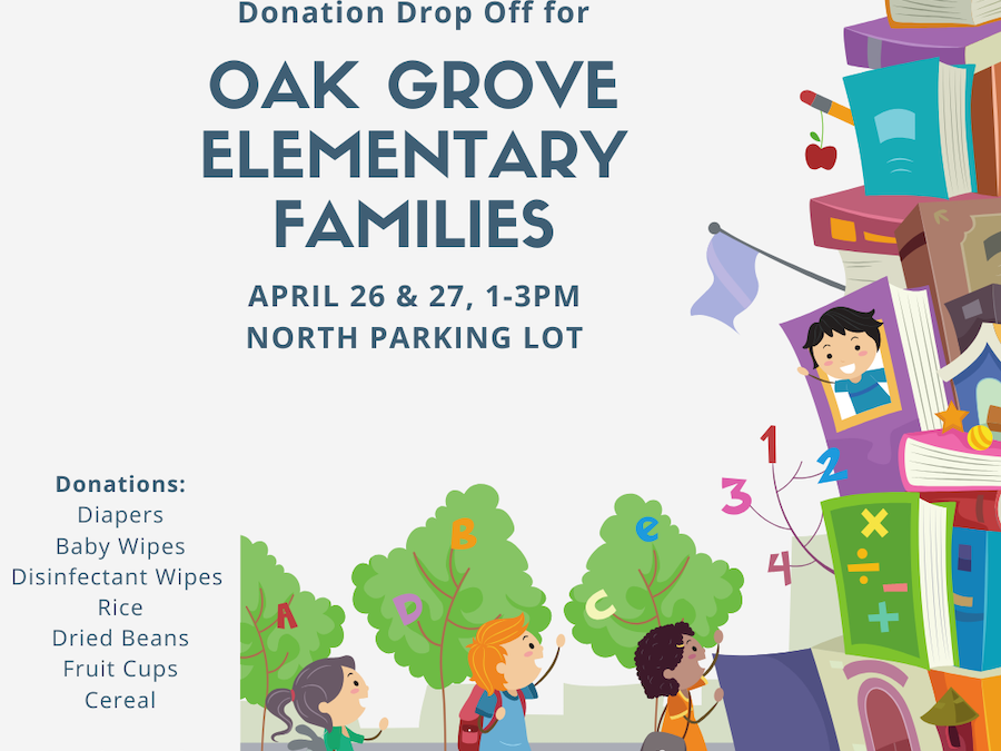 Donations for Oak Grove-Bellemeade Elementary School Families – April 26 & 27, 2020