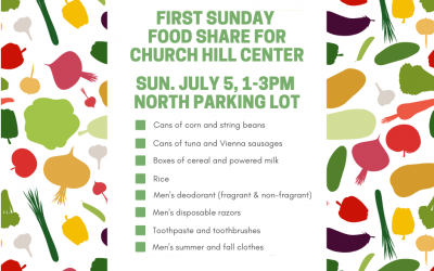 First Sunday Food Share – July 5, 2020