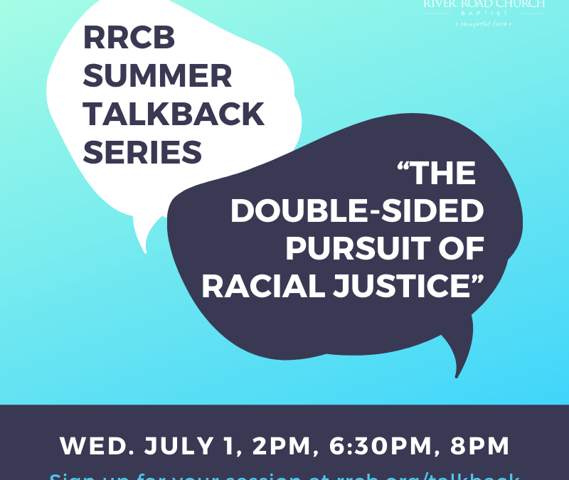 """Talkback Session: """"The Double-Sided Pursuit of Racial Justice"""""""