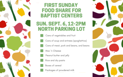 First Sunday Food Share – September 6, 2020