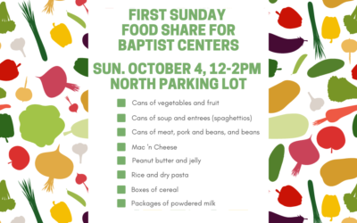 First Sunday Food Share – October 4, 2020