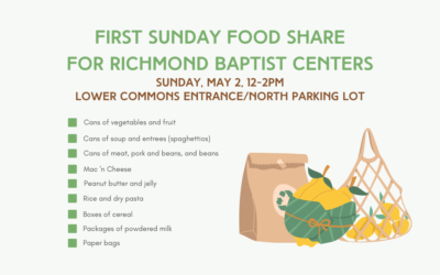 First Sunday Food Share – May 2, 2021