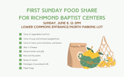 First Sunday Food Share -June 6, 2021