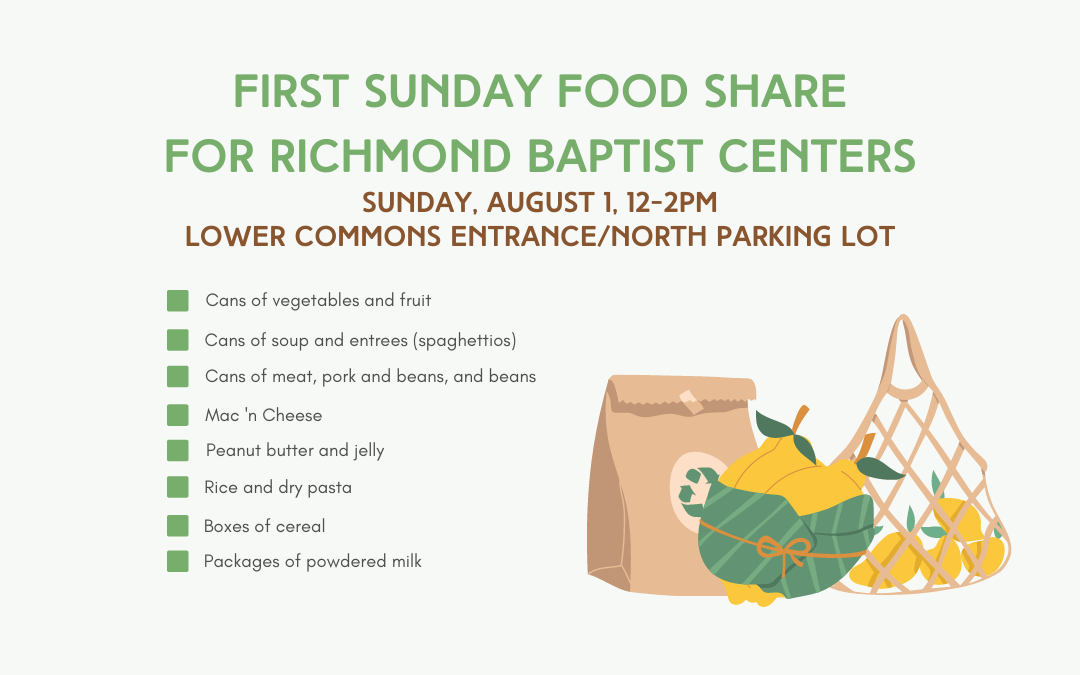 First Sunday Food Share – August 1, 2021