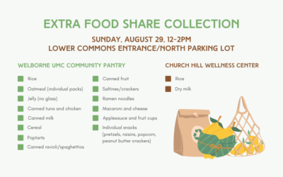 Extra Food Share Collection – August 29, 2021
