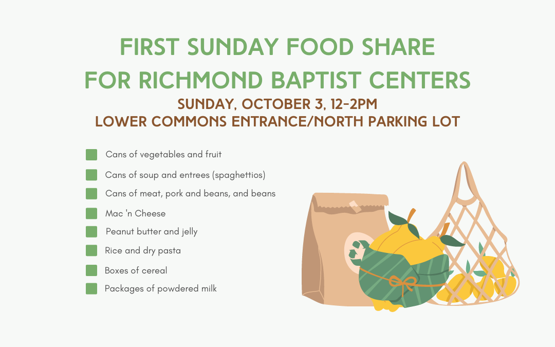 First Sunday Food Share – October 3, 2021