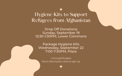 Hygiene Kits to Support Refugees from Afghanistan